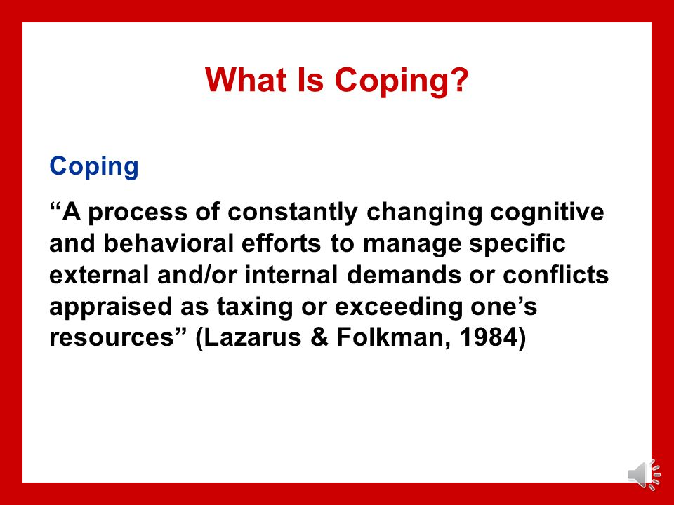 What Is Coping Coping.