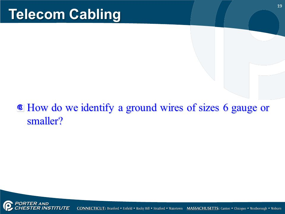 Telecom Cabling Grounding and bonding. - ppt download