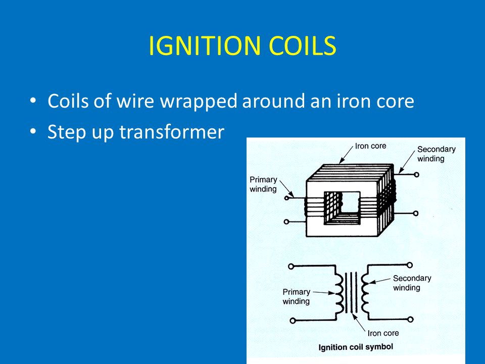 IGNITION COILS Coils of wire wrapped around an iron core