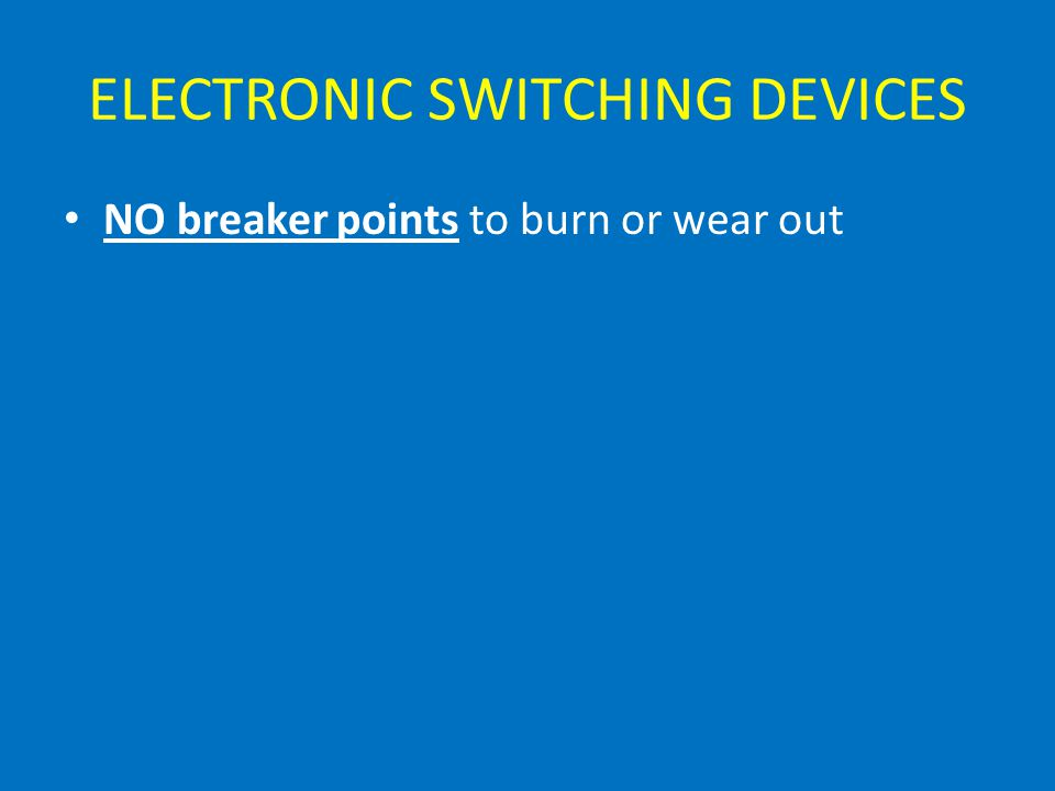 ELECTRONIC SWITCHING DEVICES