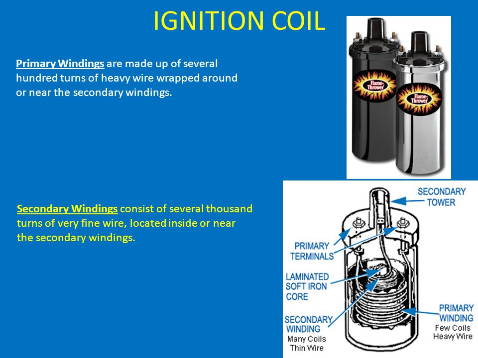 IGNITION COIL Primary Windings are made up of several