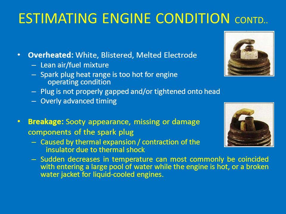 ESTIMATING ENGINE CONDITION CONTD..