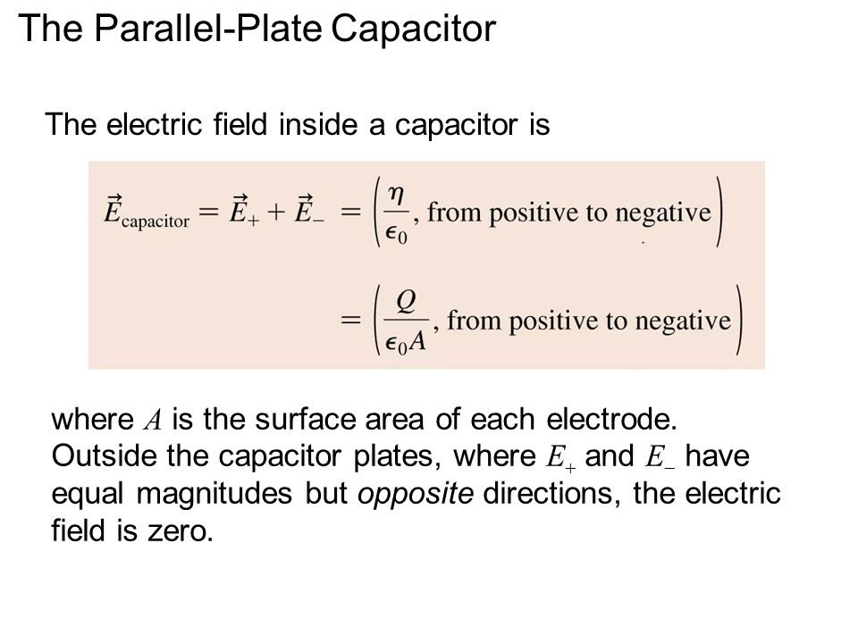 The Parallel-Plate Capacitor