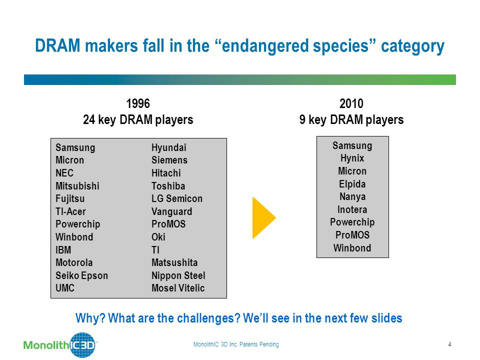 DRAM makers fall in the endangered species category