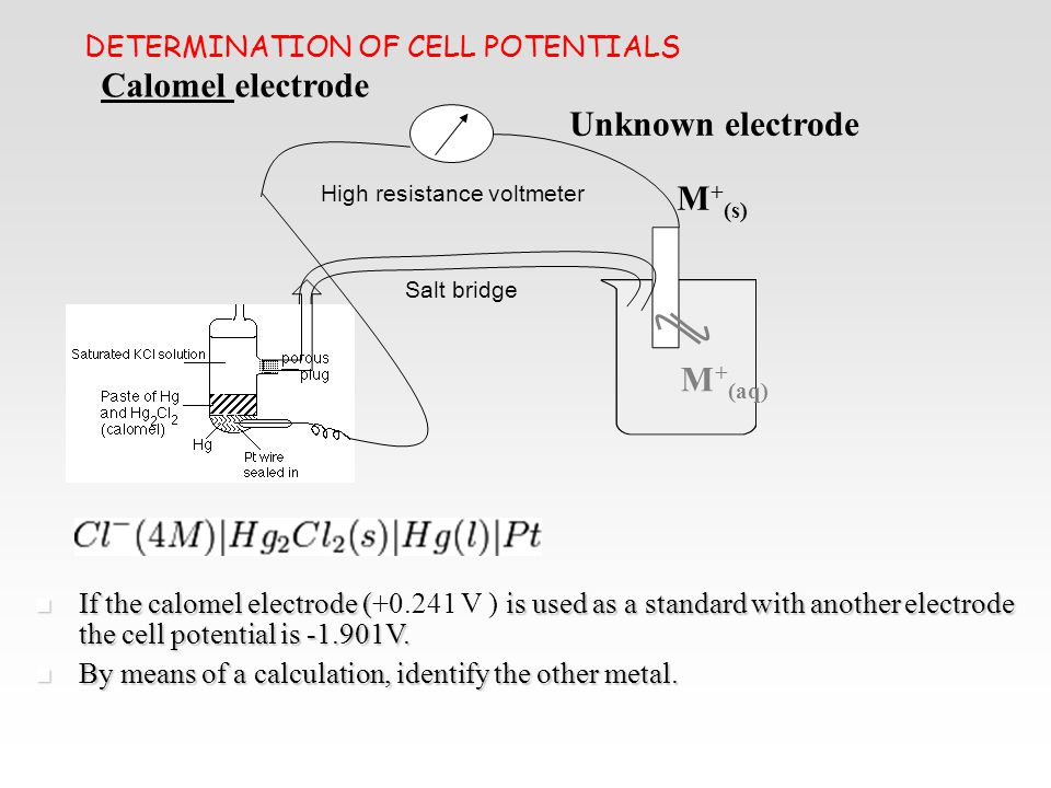DETERMINATION OF CELL POTENTIALS