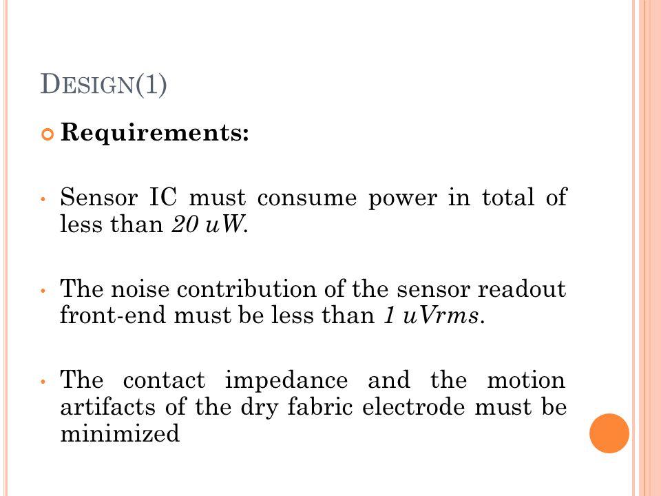 Design(1) Requirements: