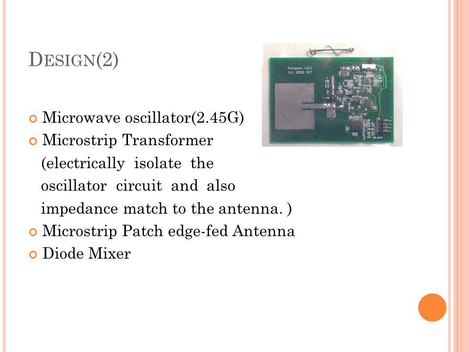 Design(2) Microwave oscillator(2.45G) Microstrip Transformer