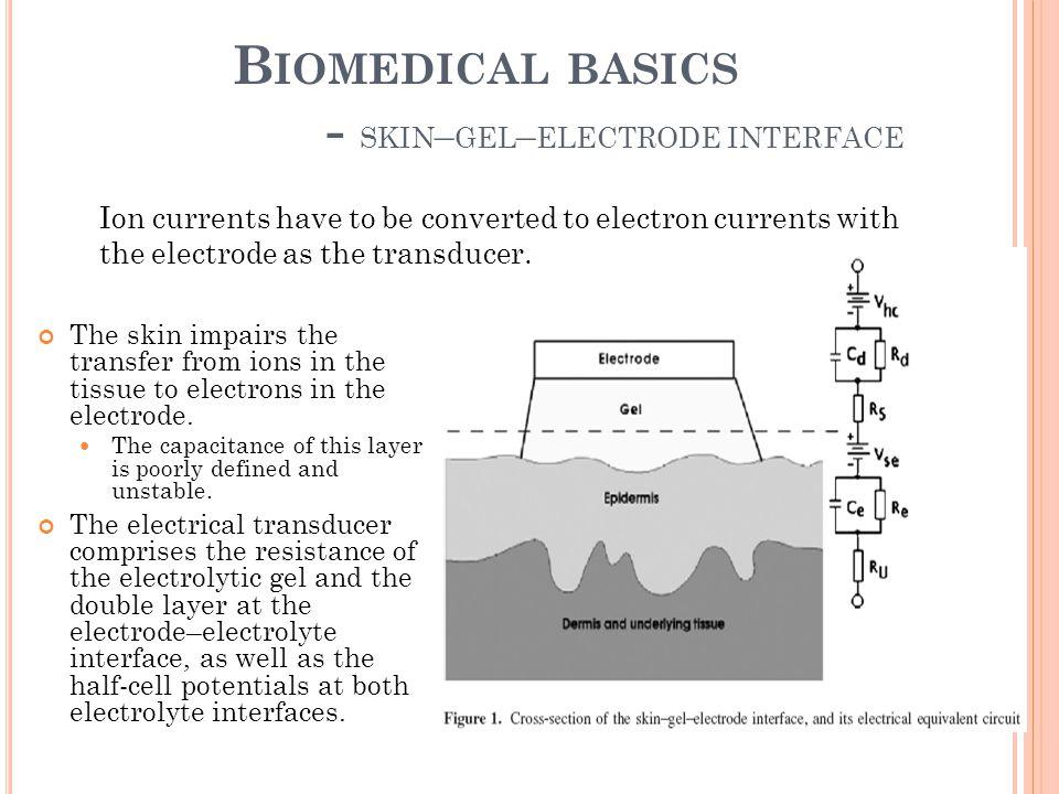 Biomedical basics - skin–gel–electrode interface