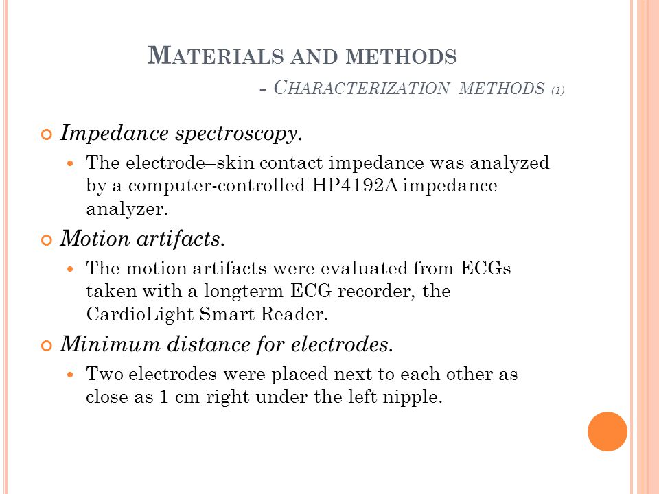 Materials and methods - Characterization methods (1)