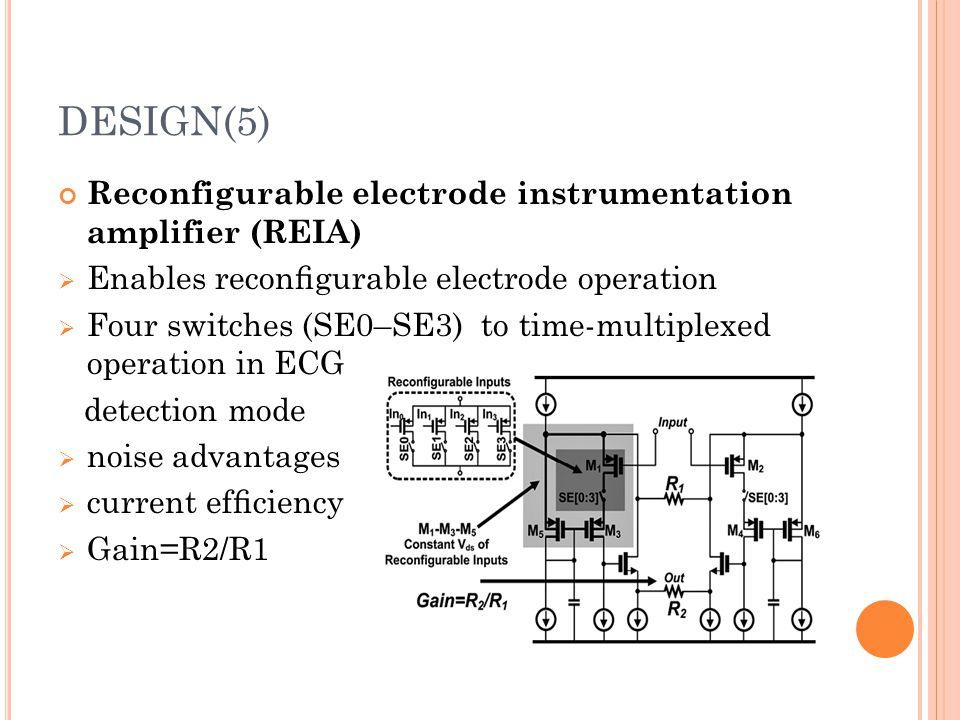 DESIGN(5) Reconfigurable electrode instrumentation amplifier (REIA)