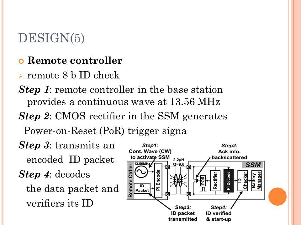 DESIGN(5) Remote controller remote 8 b ID check