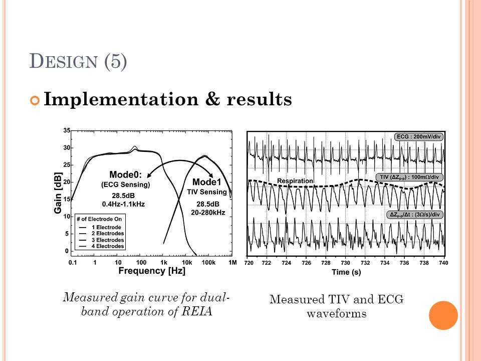 Design (5) Implementation & results