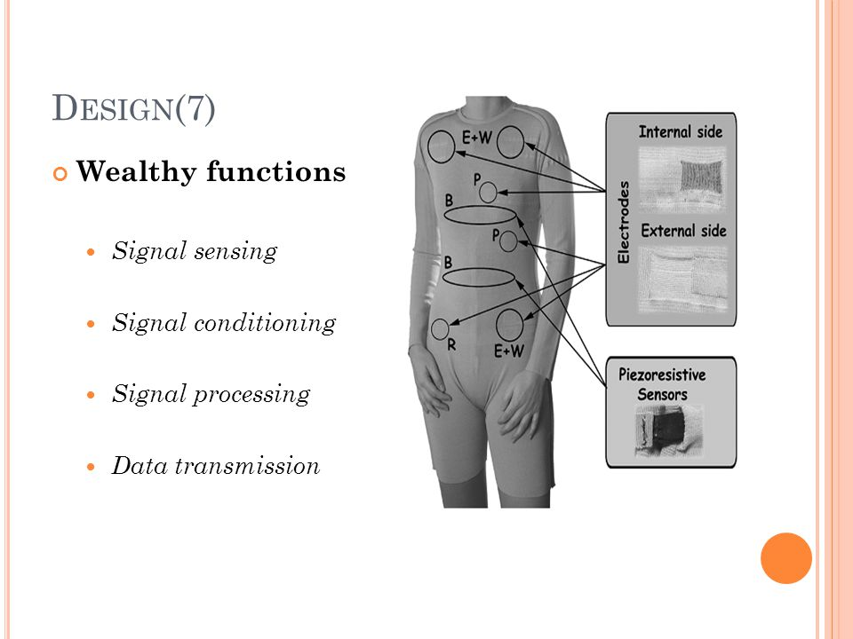 Design(7) Wealthy functions Signal sensing Signal conditioning