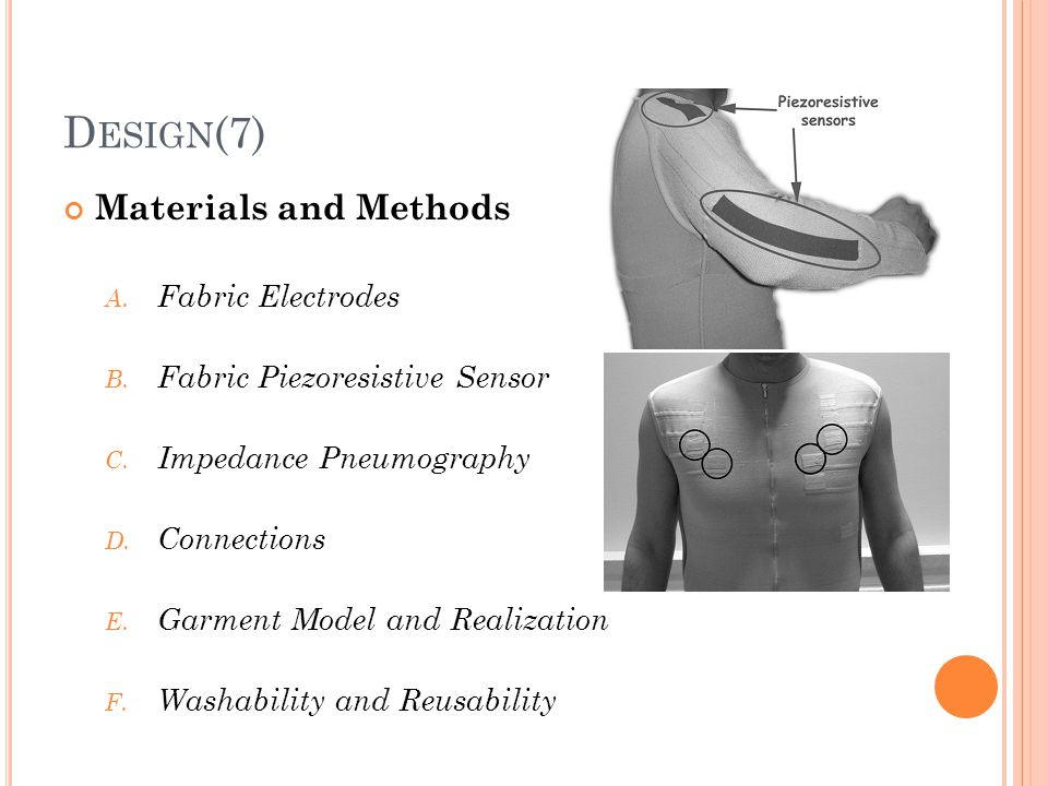 Design(7) Materials and Methods Fabric Electrodes