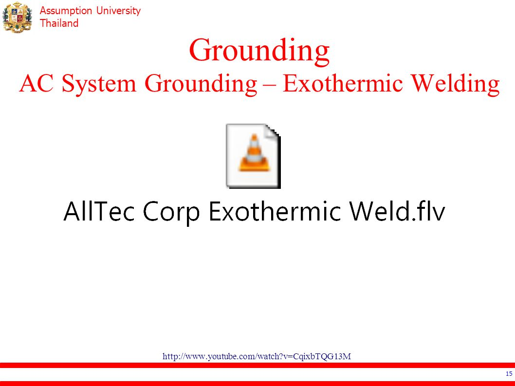 Grounding AC System Grounding – Exothermic Welding