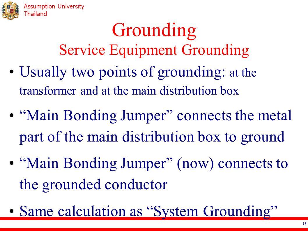 Grounding Service Equipment Grounding