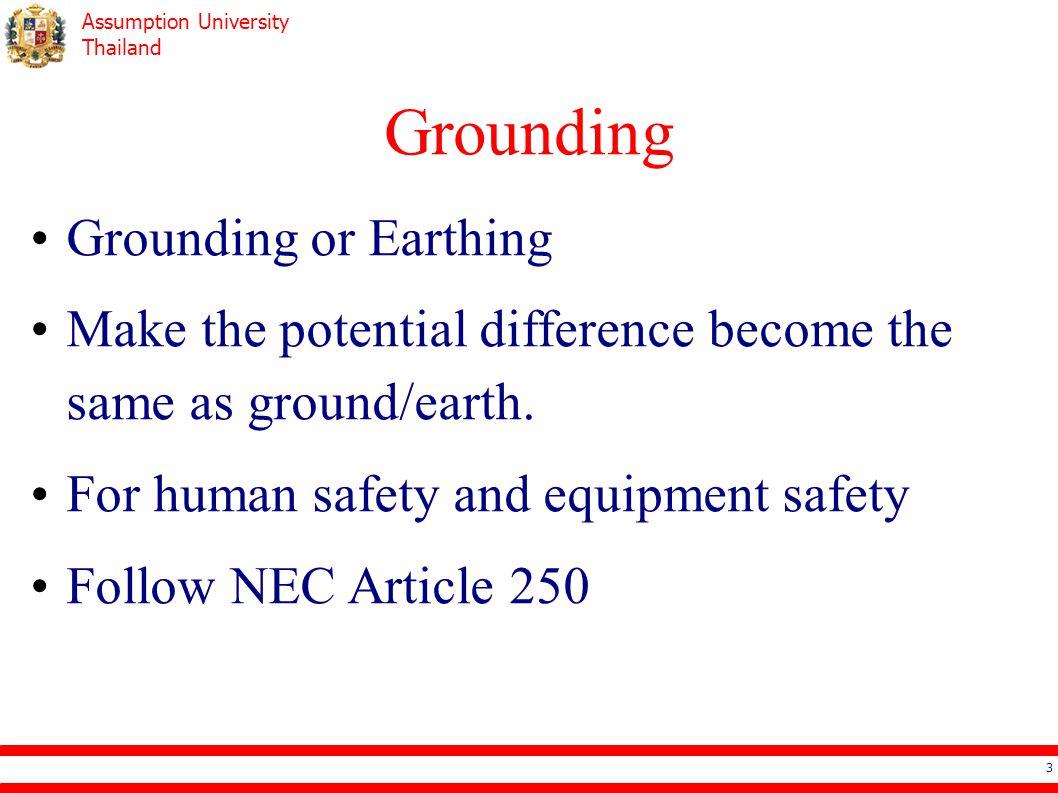 Grounding Grounding or Earthing