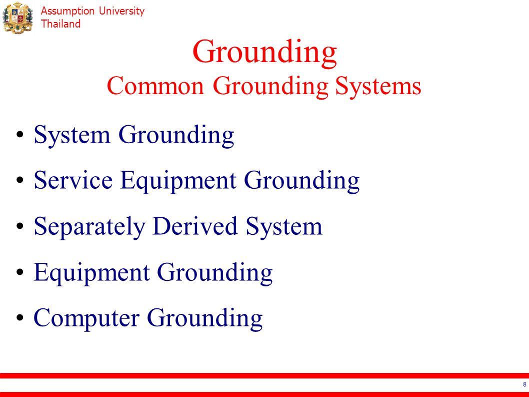 Grounding Common Grounding Systems