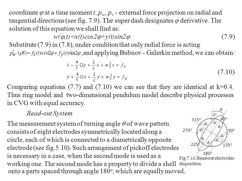 w(,t)=x(t)cos2+y(t)sin2 (7.9)