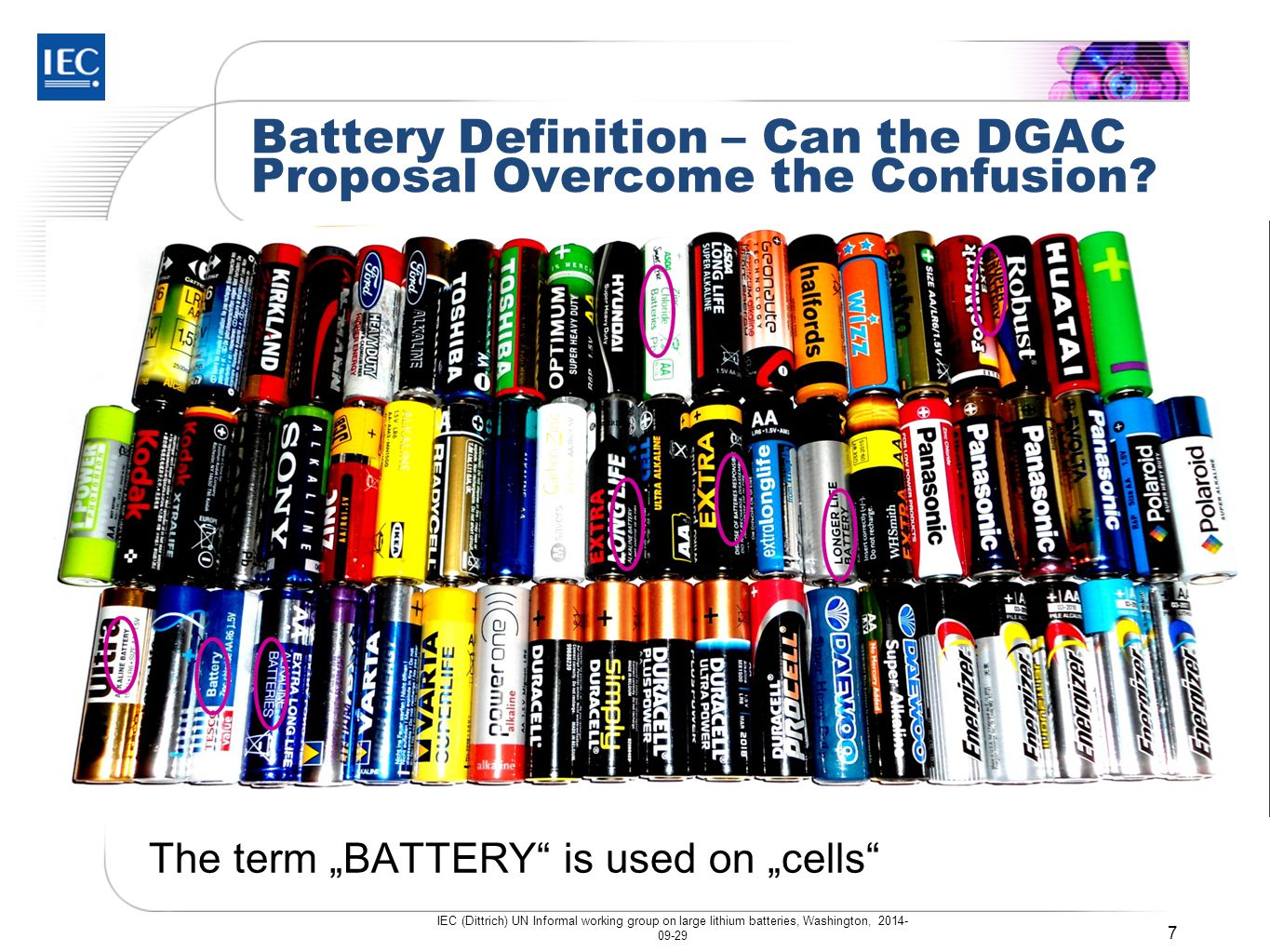 Battery Definition – Can the DGAC Proposal Overcome the Confusion