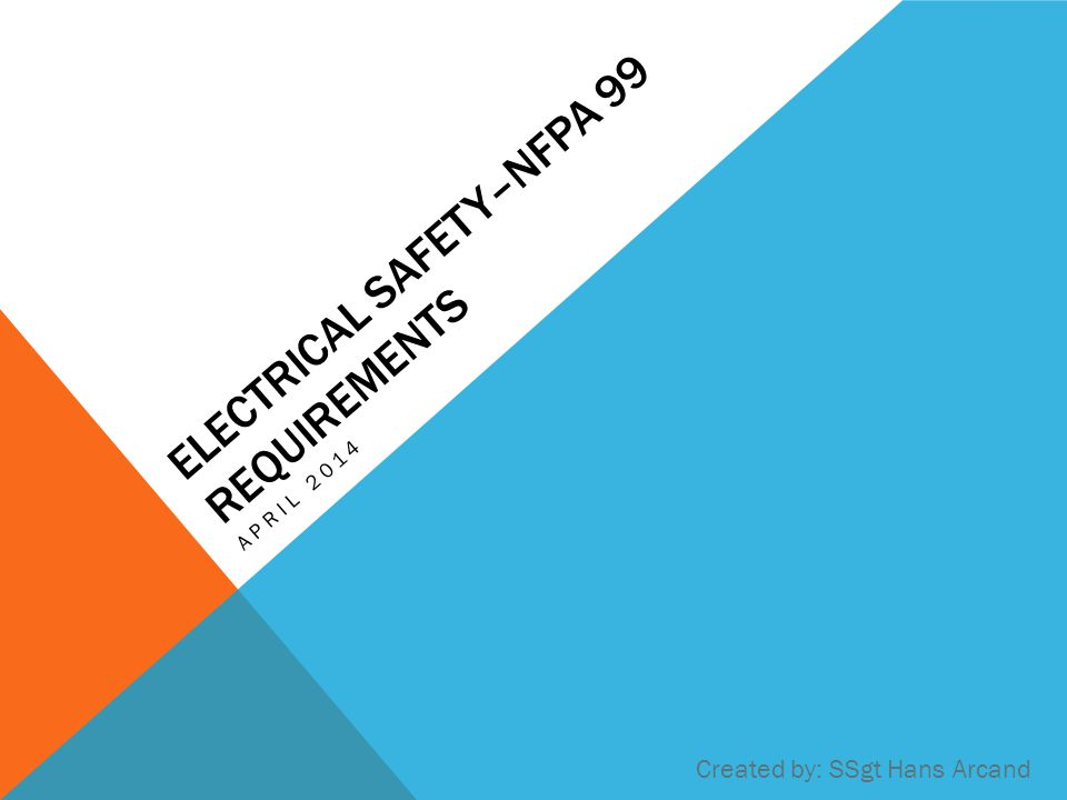 Electrical Safety–NFPA 99 Requirements