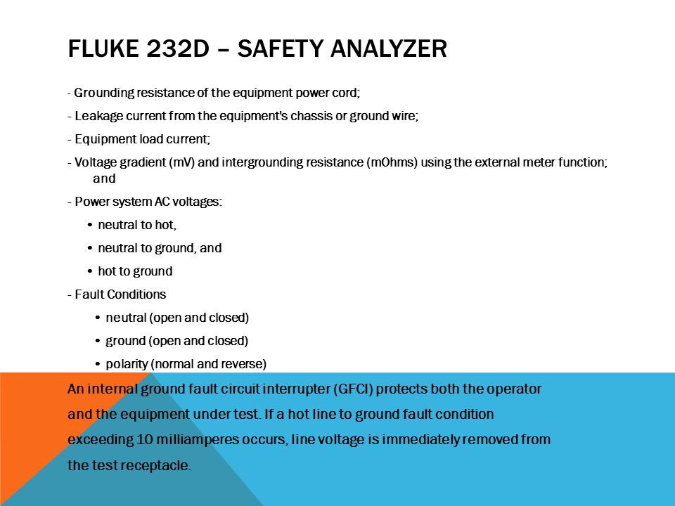 Fluke 232D – Safety Analyzer