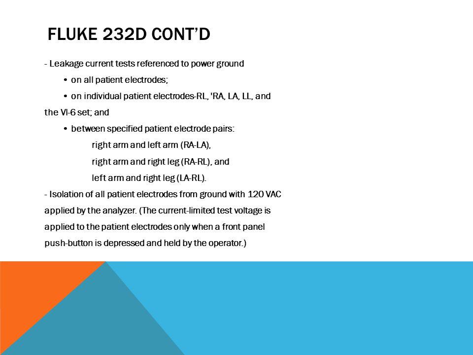 Fluke 232d cont'd
