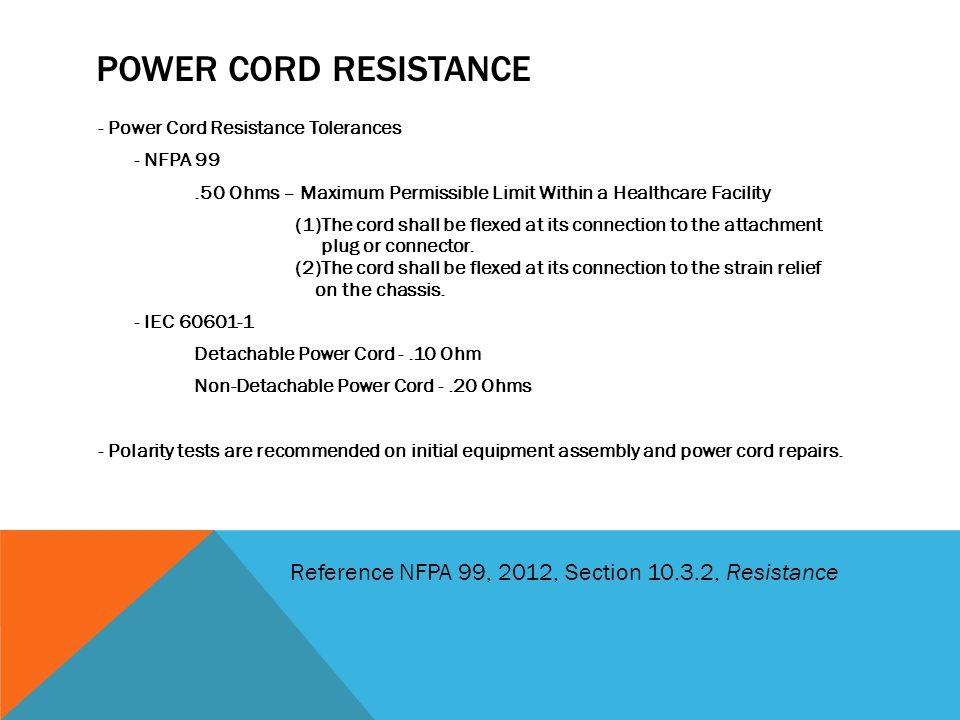 Power cord Resistance