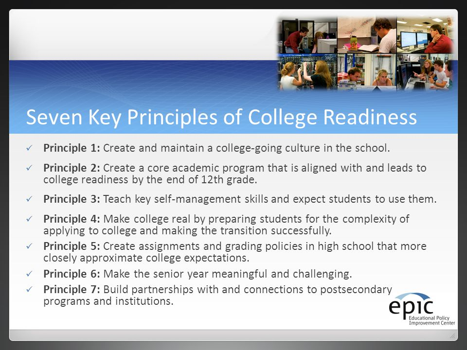 Seven Key Principles of College Readiness