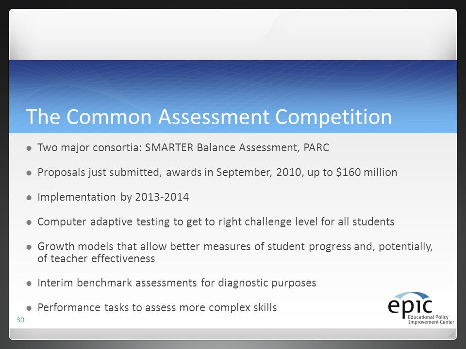 The Common Assessment Competition