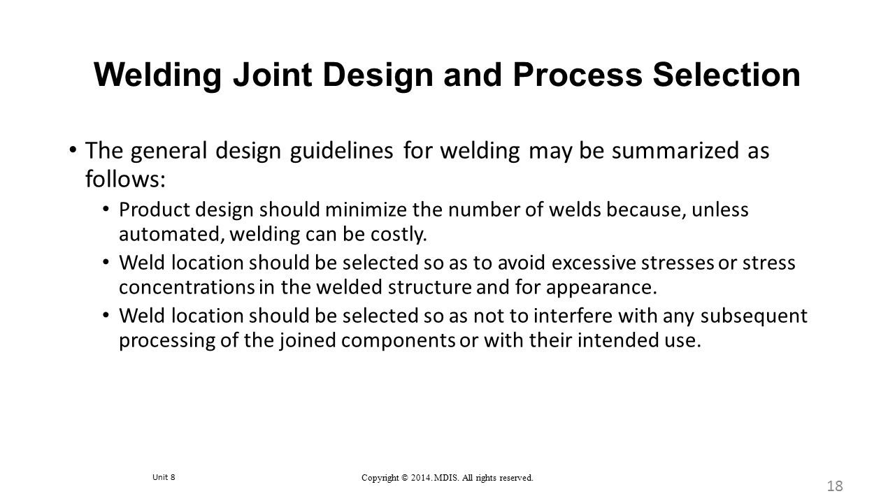 Welding Joint Design and Process Selection