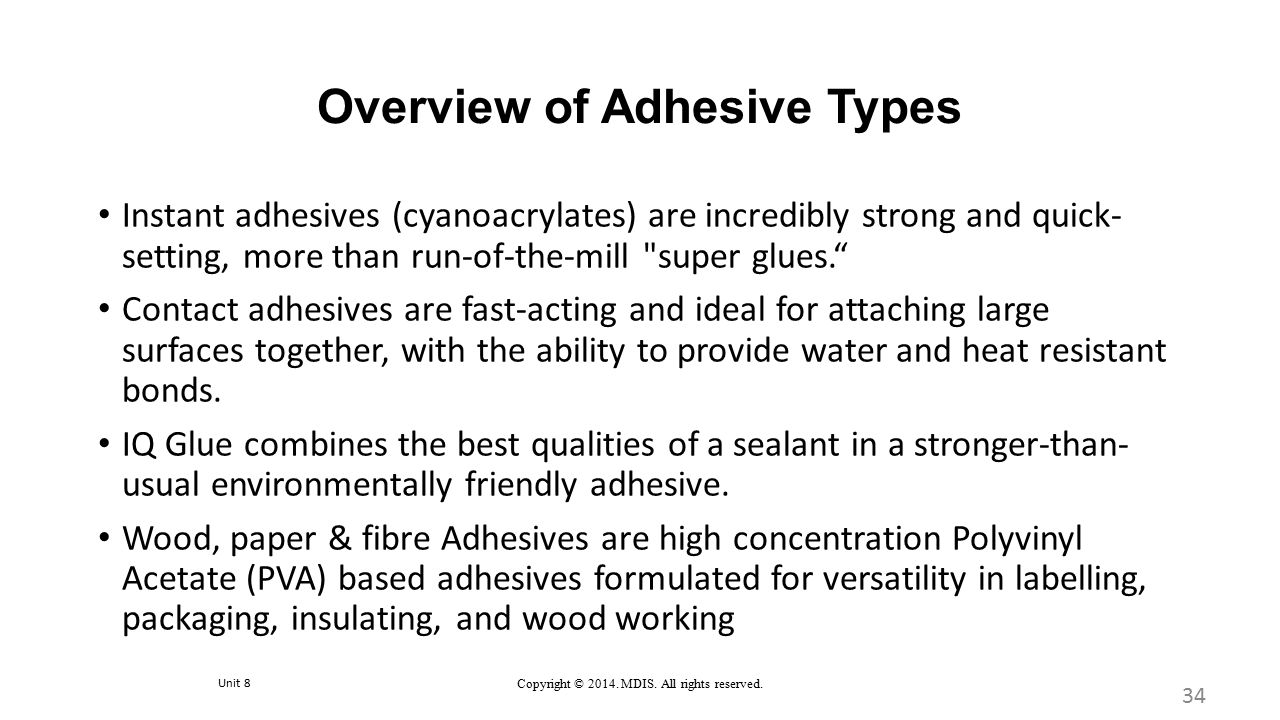 Overview of Adhesive Types