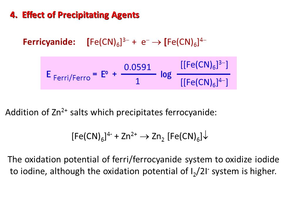 4. Effect of Precipitating Agents
