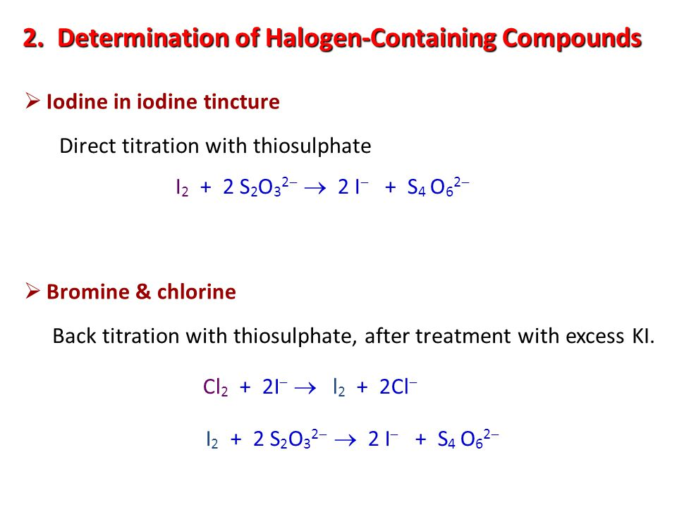 2. Determination of Halogen-Containing Compounds