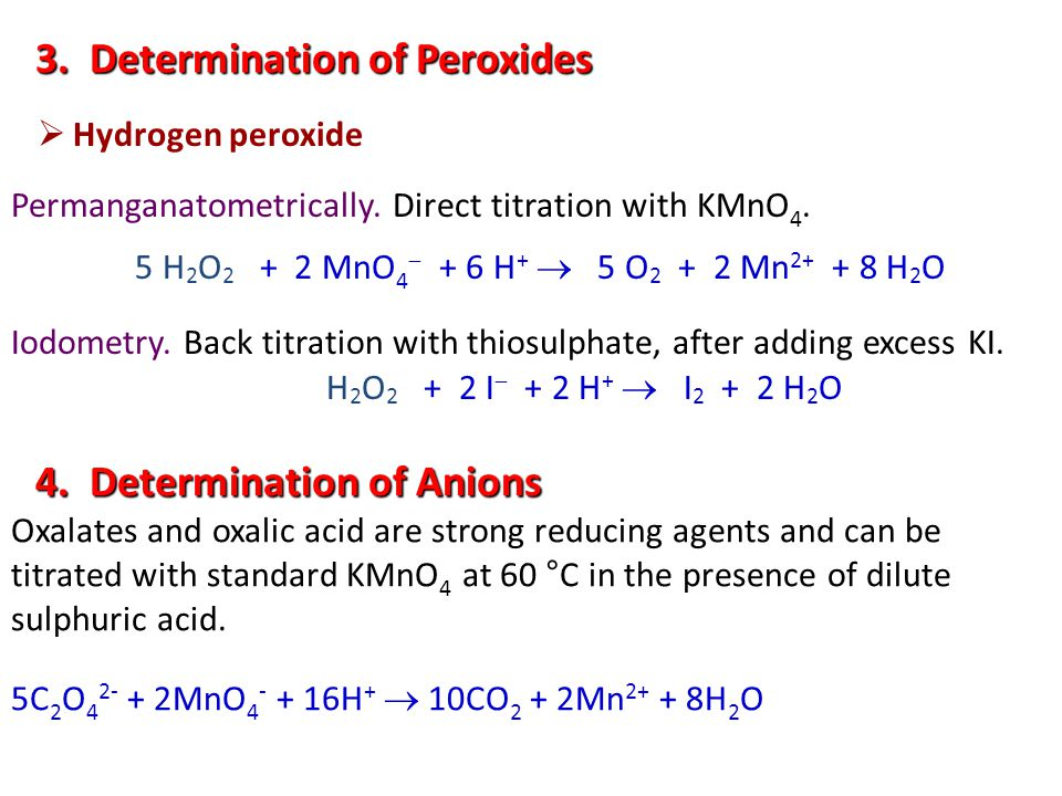 3. Determination of Peroxides