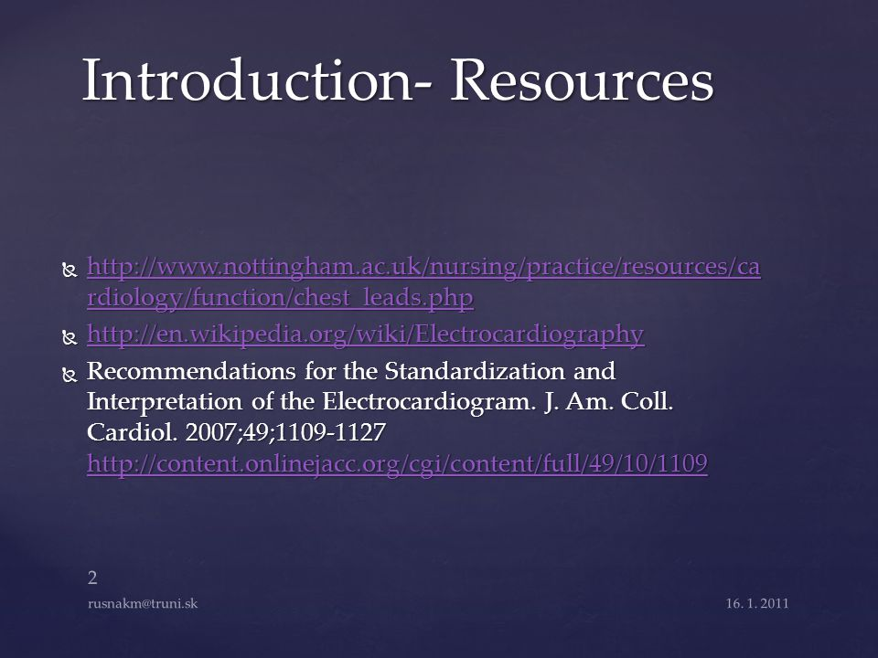 Introduction- Resources