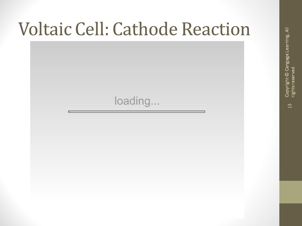 Voltaic Cell: Cathode Reaction