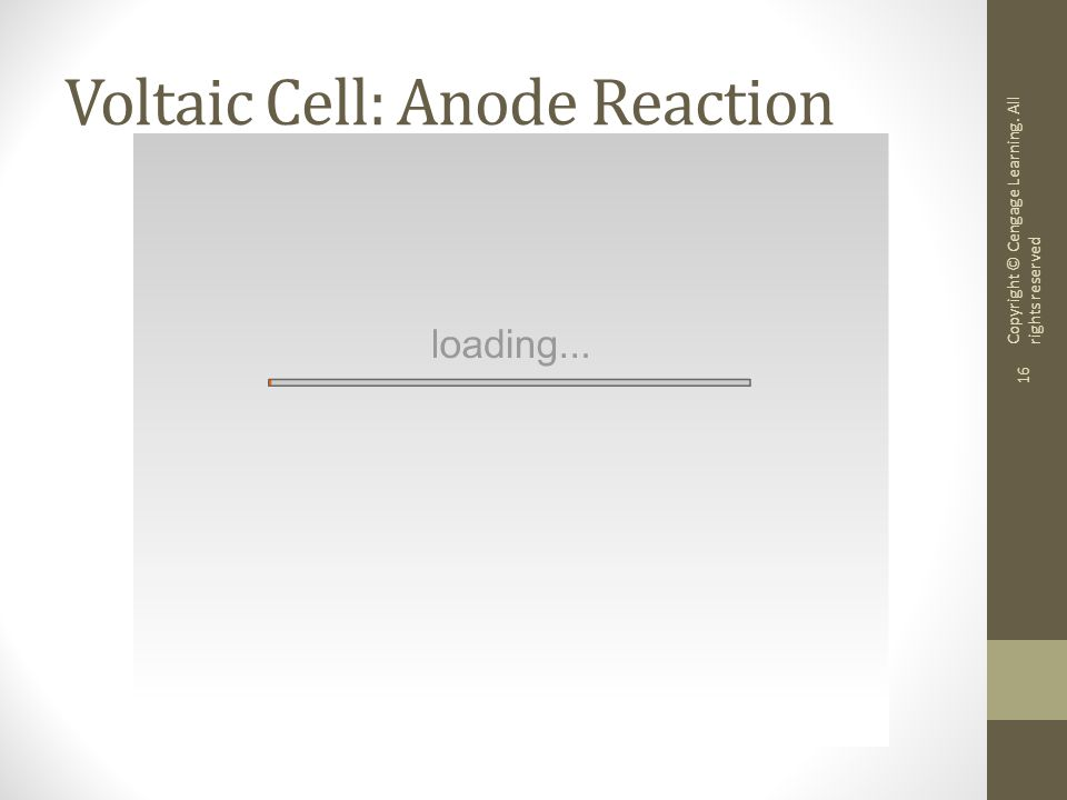 Voltaic Cell: Anode Reaction
