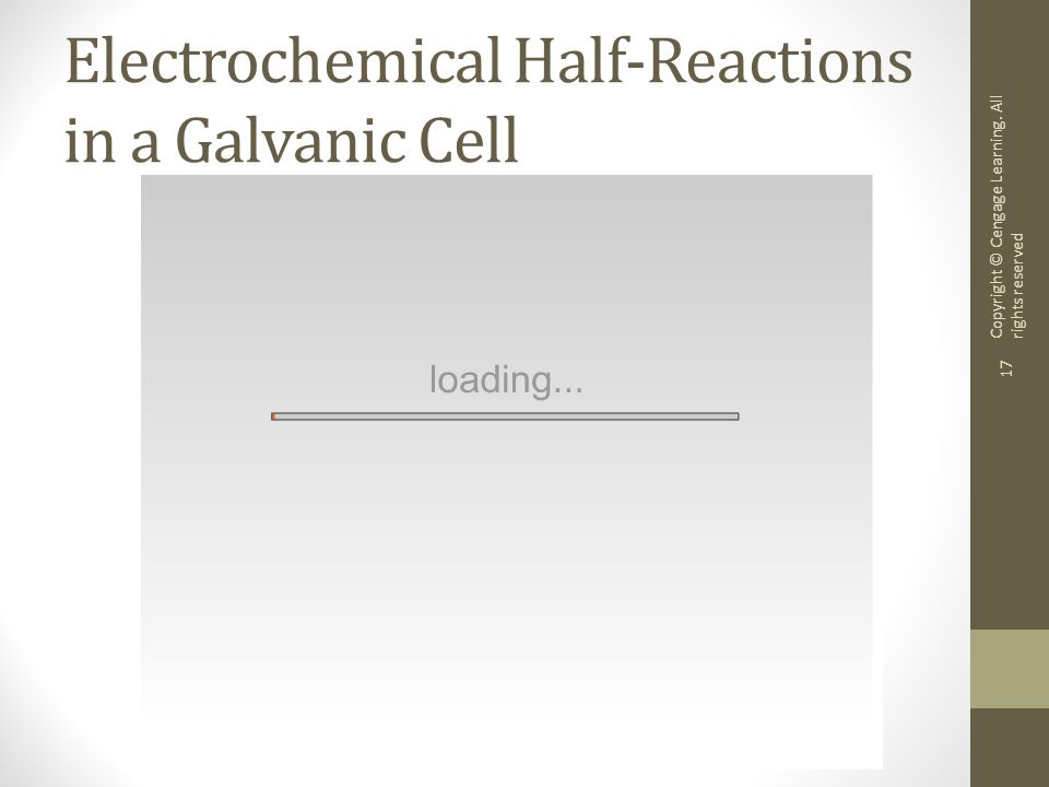 Electrochemical Half-Reactions in a Galvanic Cell