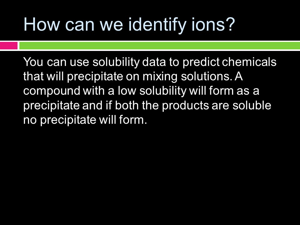 How can we identify ions