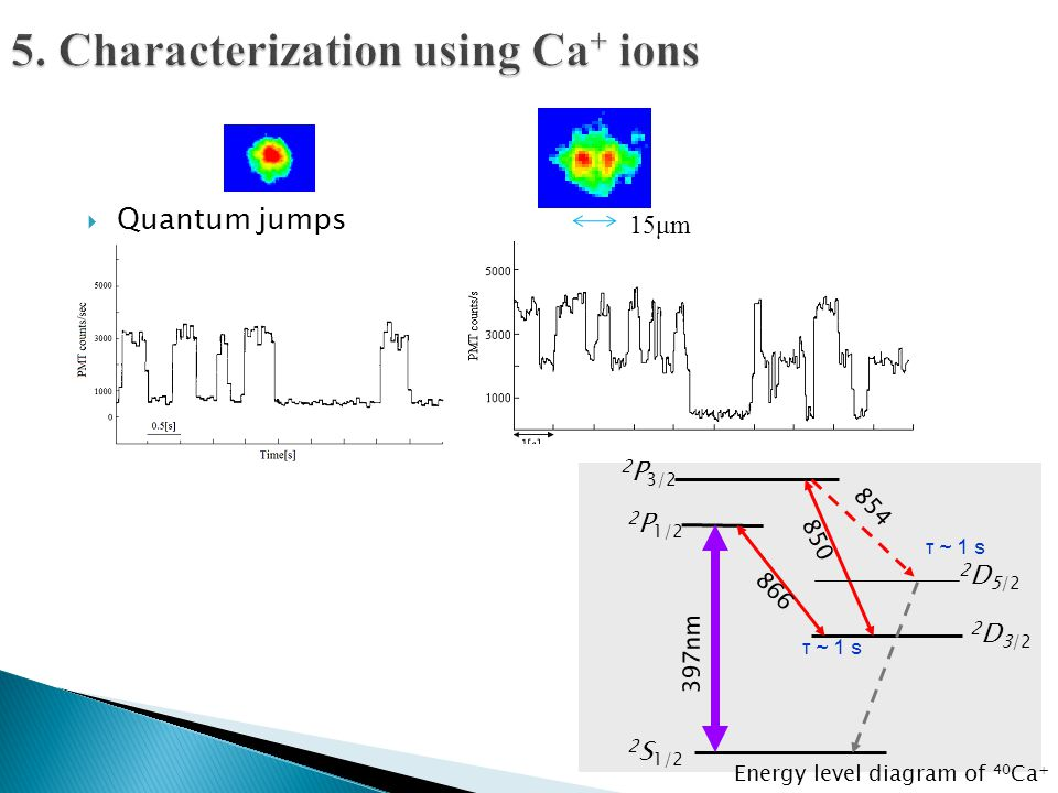 5. Characterization using Ca+ ions