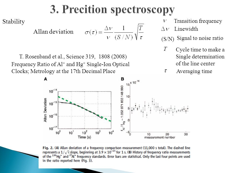 3. Precition spectroscopy