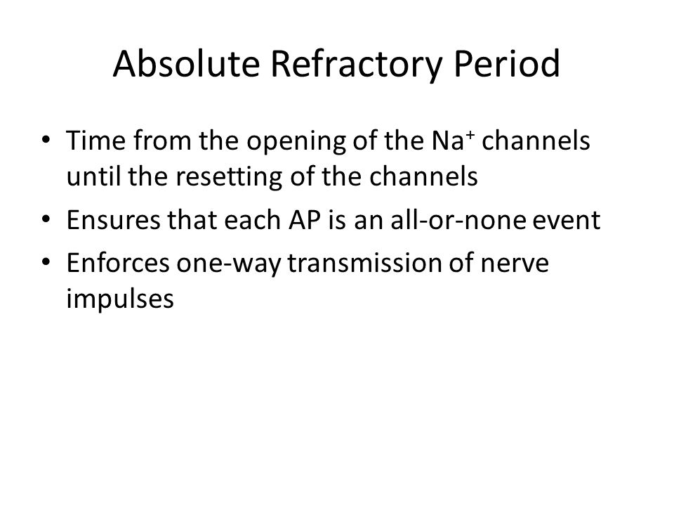 Absolute Refractory Period