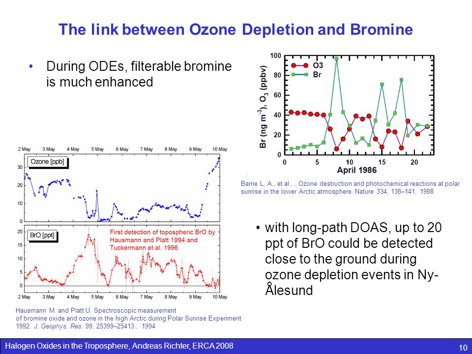 The link between Ozone Depletion and Bromine