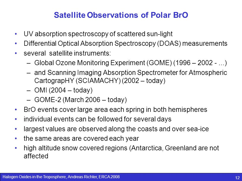 Satellite Observations of Polar BrO