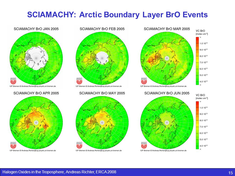 SCIAMACHY: Arctic Boundary Layer BrO Events
