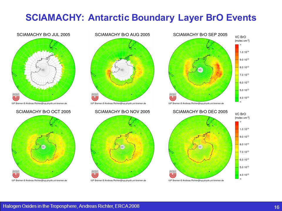 SCIAMACHY: Antarctic Boundary Layer BrO Events