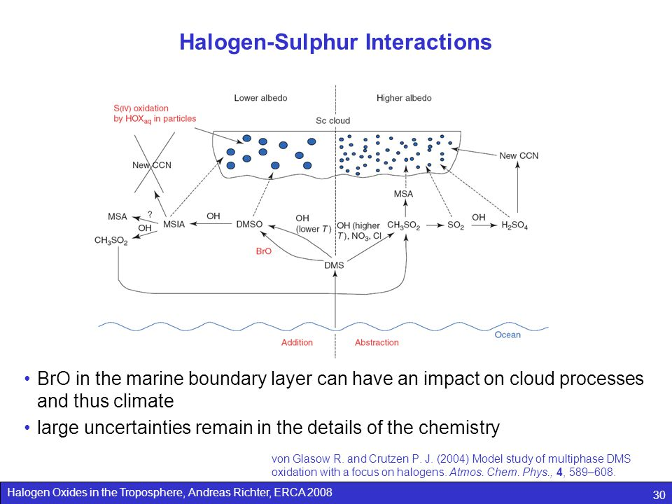 Halogen-Sulphur Interactions