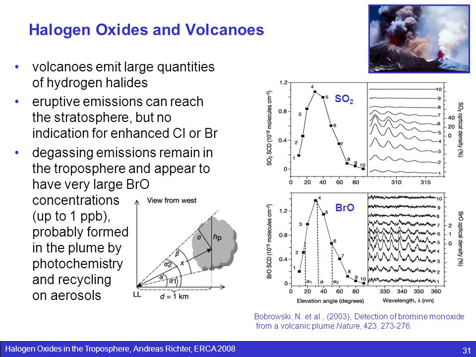 Halogen Oxides and Volcanoes