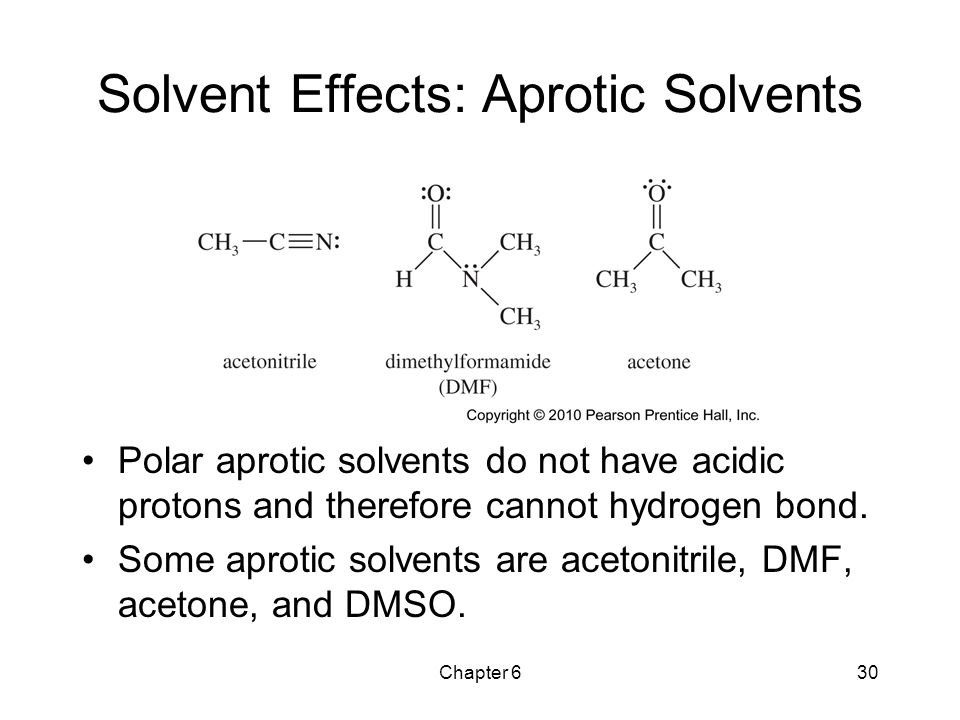 Solvent Effects: Aprotic Solvents